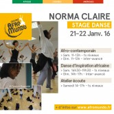 [STAGE] Norma CLAIRE <br /> 21-22 janvier 2017